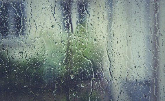 rain on window photo