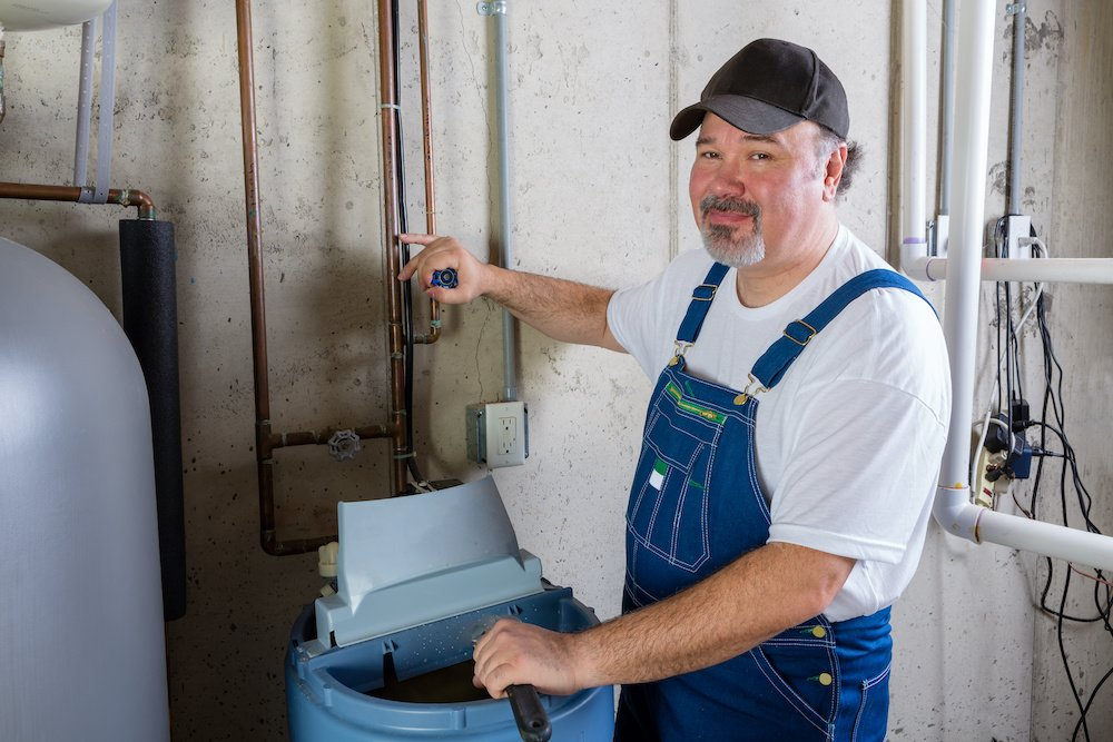 how to clean a water softener resin tank